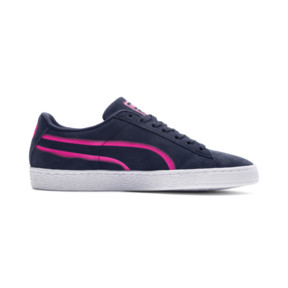 Thumbnail 5 of Suede Classic X-Hollows Sneakers, Peacoat-PINK-White, medium