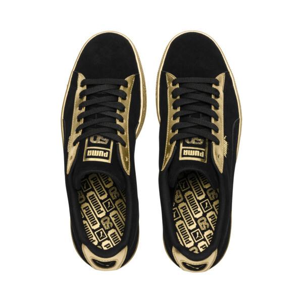 Suede Classic Metallic, Puma Black-Puma Team Gold, large
