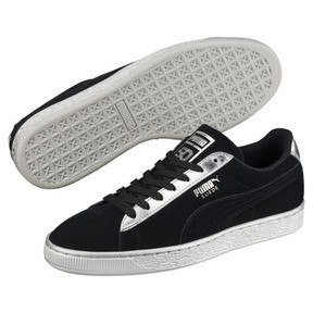Thumbnail 2 of Suede Classic Metallic, Puma Black-Puma Silver, medium