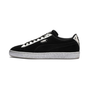 Thumbnail 1 of Suede Classic Metallic, Puma Black-Puma Silver, medium
