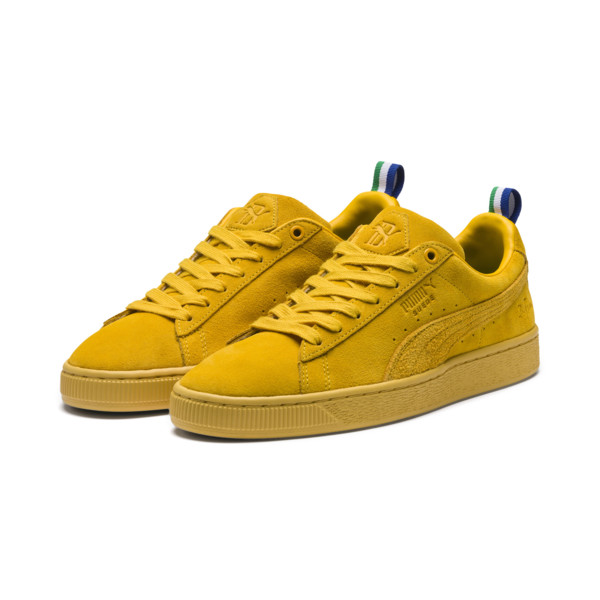 PUMA x BIG SEAN Suede Spectra Trainers, Spectra Yellow, large