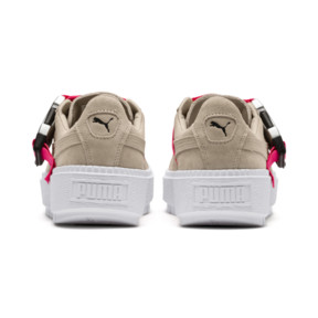 Thumbnail 4 of Platform Trace Buckle Women's Sneakers, Cement-Cement, medium