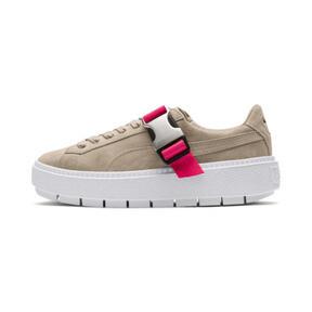 Thumbnail 1 of Platform Trace Buckle Women's Sneakers, Cement-Cement, medium