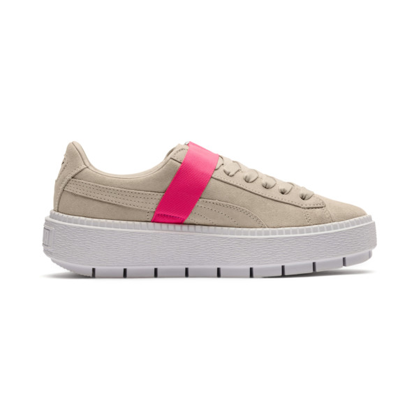 Platform Trace Buckle Women's Sneakers, 02, large