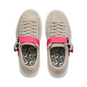 Thumbnail 6 of Platform Trace Buckle Women's Sneakers, Cement-Cement, medium