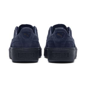 Thumbnail 4 of Suede Platform Gem Women's Sneakers, Peacoat-Peacoat, medium