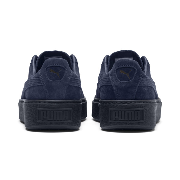 Suede Platform Gem Women's Sneakers, Peacoat-Peacoat, large