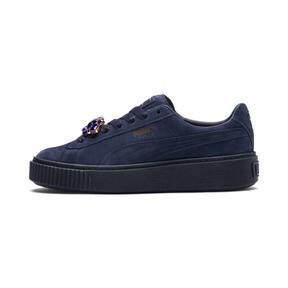 Thumbnail 1 of Suede Platform Gem Women's Sneakers, Peacoat-Peacoat, medium