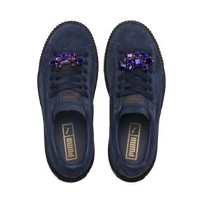 Thumbnail 6 of Suede Platform Gem Women's Sneakers, Peacoat-Peacoat, medium