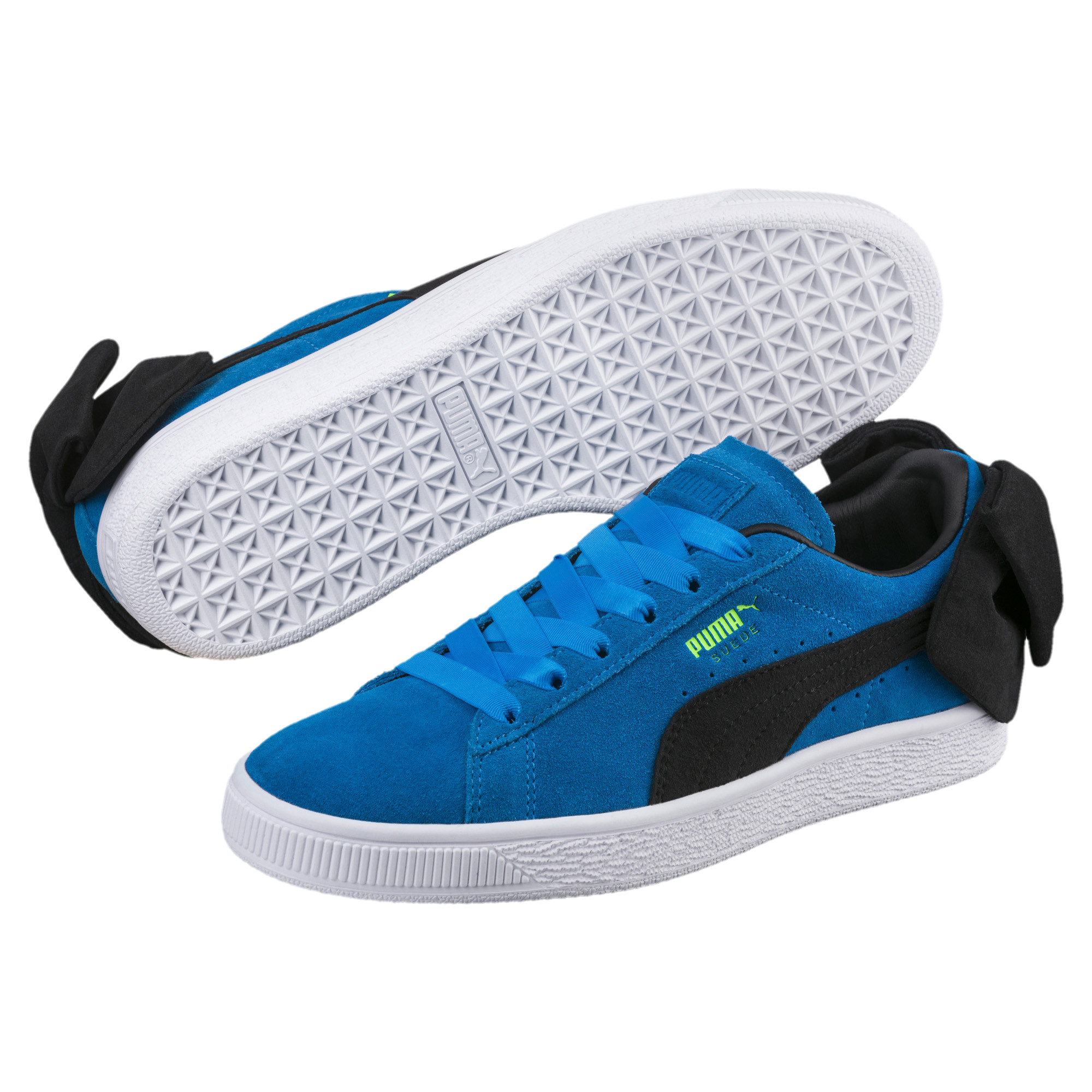 PUMA-Suede-Bow-Block-Damen-Sneaker-Frauen-Schuhe-Sport-Classics-Neu Indexbild 14