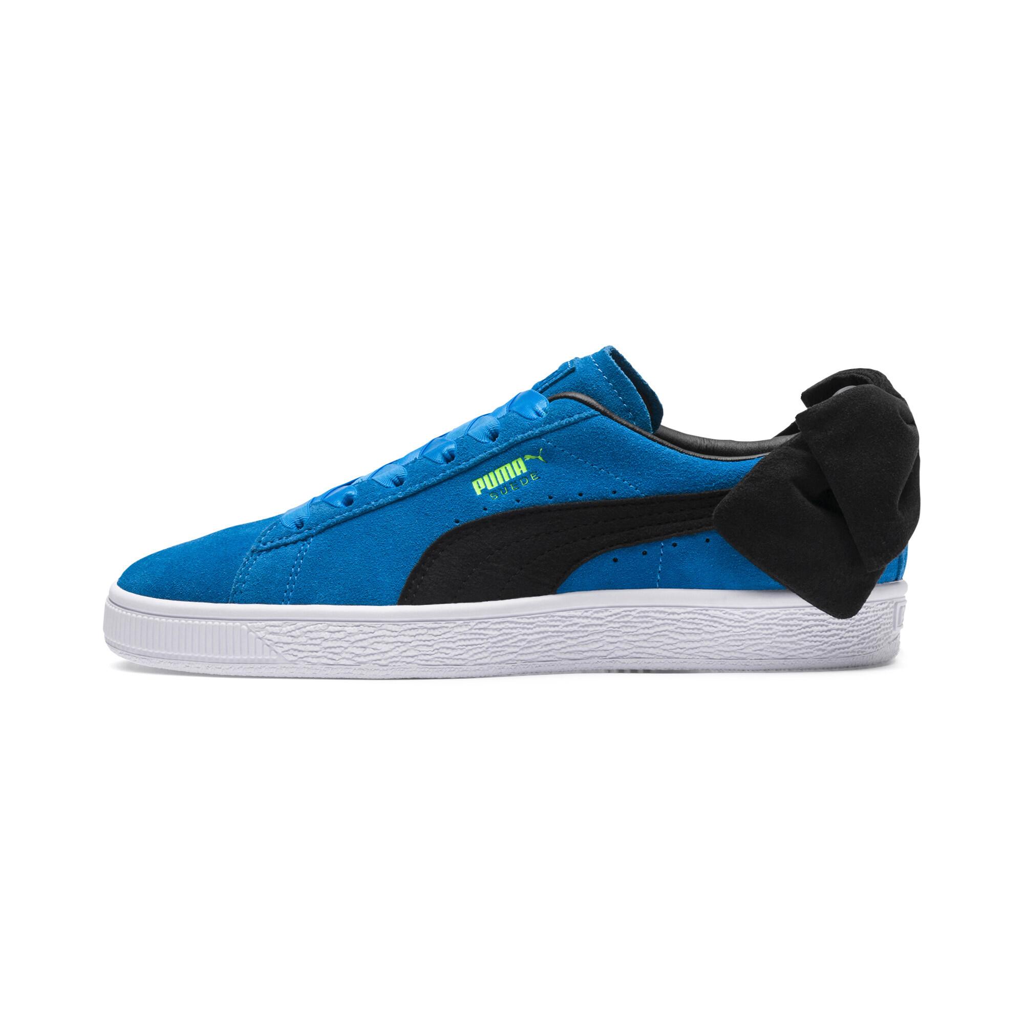 PUMA-Suede-Bow-Block-Damen-Sneaker-Frauen-Schuhe-Sport-Classics-Neu Indexbild 10