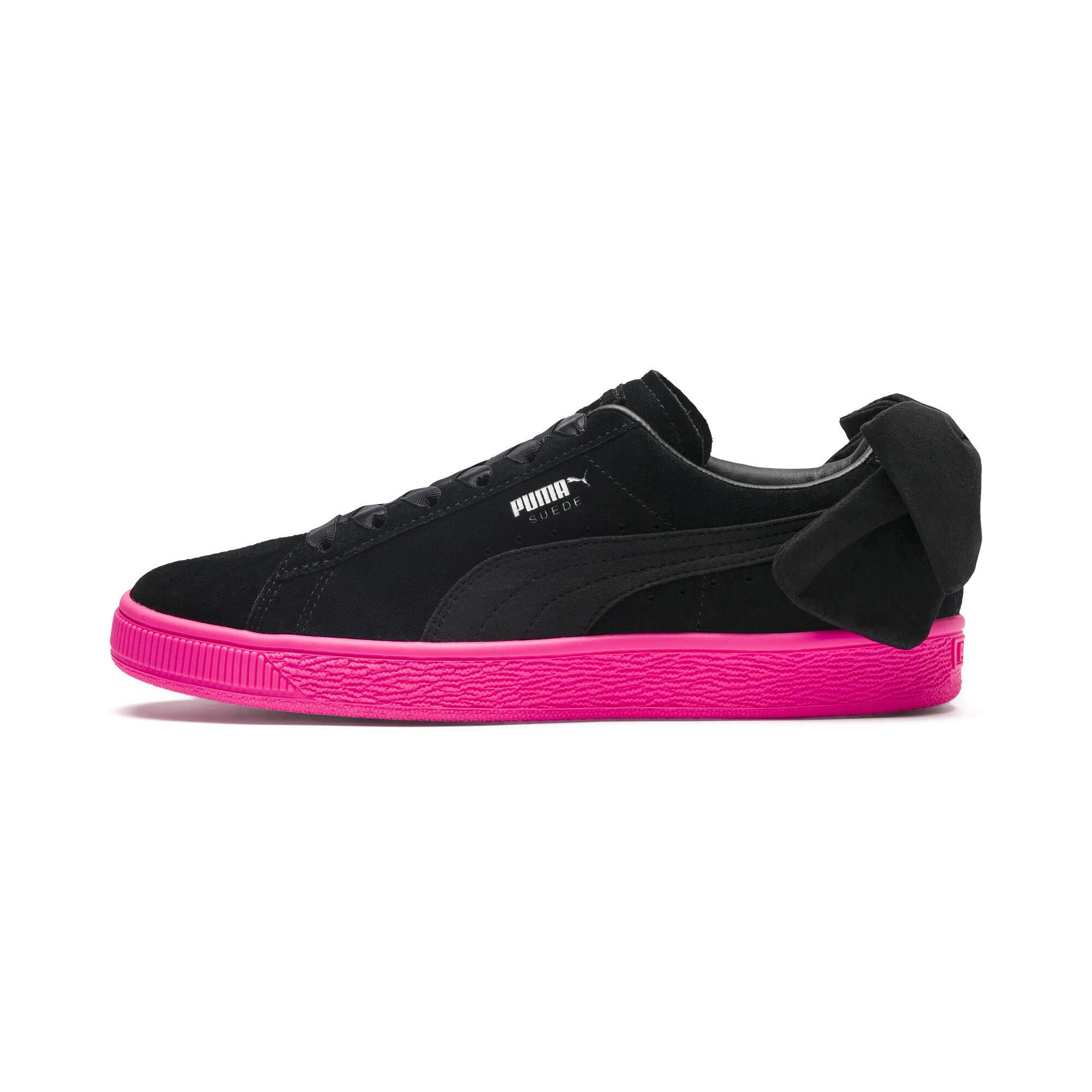 PUMA-Suede-Bow-Block-Damen-Sneaker-Frauen-Schuhe-Sport-Classics-Neu Indexbild 4