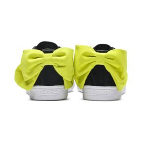 Thumbnail 4 of Suede Bow Block Women's Sneakers, Puma Black-Sulphur Spring, medium