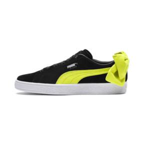 Thumbnail 1 of Suede Bow Block Women's Sneakers, Puma Black-Sulphur Spring, medium