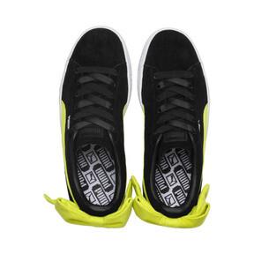 Thumbnail 6 of Suede Bow Block Women's Sneakers, Puma Black-Sulphur Spring, medium