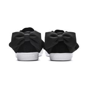 Thumbnail 4 of Suede Bow Uprising Women's Sneakers, Puma Black-Puma White, medium