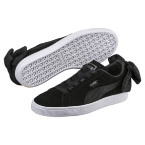 Thumbnail 2 of Suede Bow Uprising Women's Sneakers, Puma Black-Puma White, medium