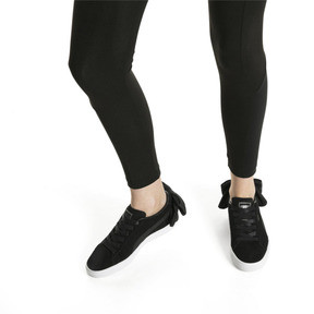 Thumbnail 7 of Suede Bow Uprising Women's Sneakers, Puma Black-Puma White, medium