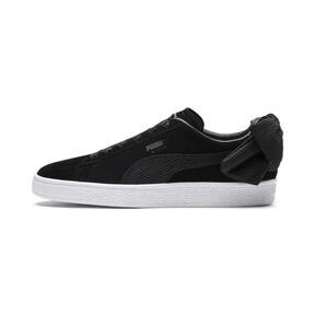 Thumbnail 1 of Suede Bow Uprising Women's Sneakers, Puma Black-Puma White, medium