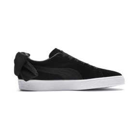 Thumbnail 5 of Suede Bow Uprising Women's Sneakers, Puma Black-Puma White, medium