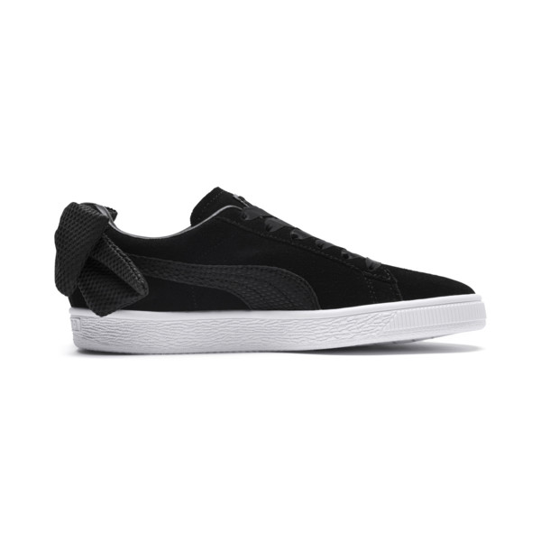Suede Bow Uprising Women's Sneakers, Puma Black-Puma White, large