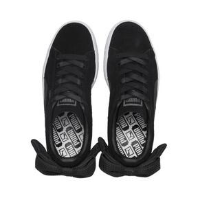 Thumbnail 6 of Suede Bow Uprising Women's Sneakers, Puma Black-Puma White, medium