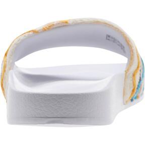 Thumbnail 4 of PUMA x COOGI Leadcat Slide Sandals, Puma White-Gold, medium
