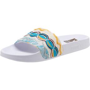 Thumbnail 1 of PUMA x COOGI Leadcat Slide Sandals, Puma White-Gold, medium