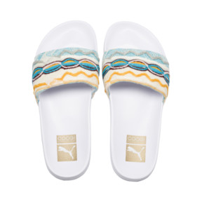 Thumbnail 6 of PUMA x COOGI Leadcat Slide Sandals, Puma White-Gold, medium