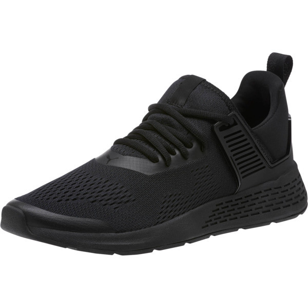 Insurge Eng Mesh Sneakers, Black-Black-Black, large