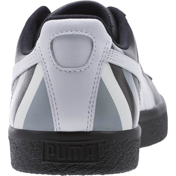 Clyde Stripes Men's Sneakers, Puma Black-Puma White, large