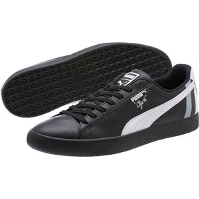Thumbnail 2 of Clyde Stripes Men's Sneakers, Puma Black-Puma White, medium