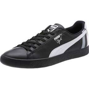Thumbnail 1 of Clyde Stripes Men's Sneakers, Puma Black-Puma White, medium