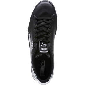 Thumbnail 5 of Clyde Stripes Men's Sneakers, Puma Black-Puma White, medium