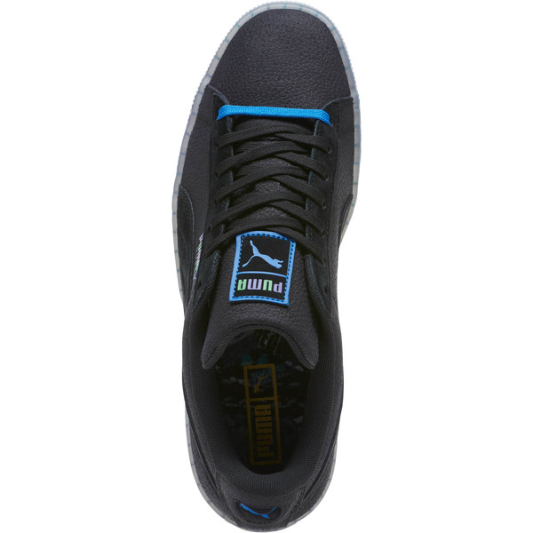 Suede Classic V2 AOP Men's Sneakers, Puma Black-Puma Royal, large