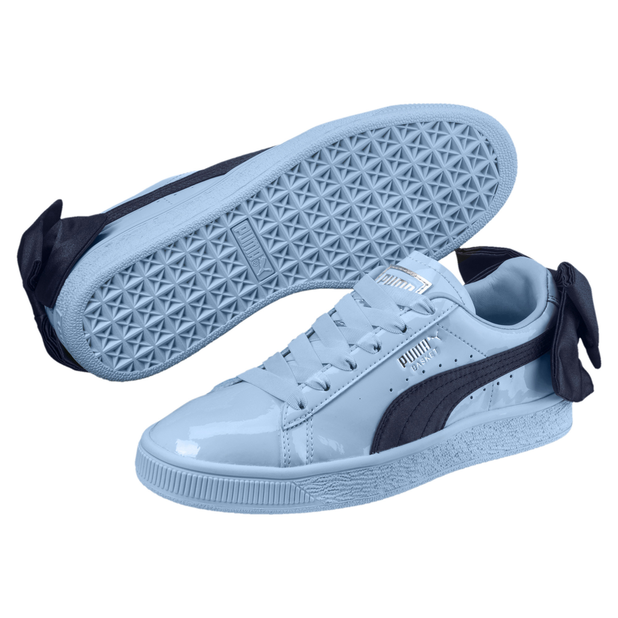 121ed04494 Details about PUMA Basket Bow Patent Sneakers JR Girls Shoe Kids