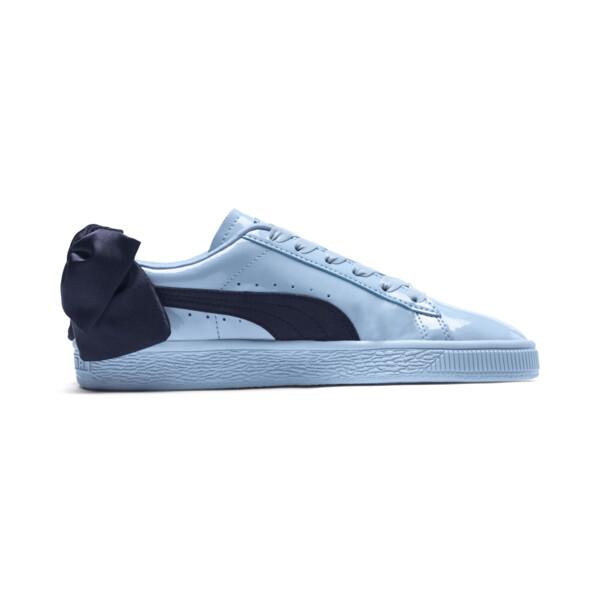 Basket Bow Patent Sneakers JR, CERULEAN-Peacoat, large
