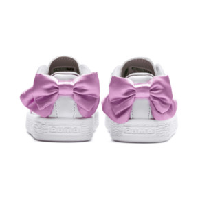 Thumbnail 4 of Basket Bow Patent Baby's Sneakers, Puma White-Orchid-Gray, medium