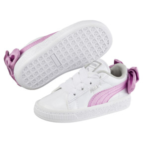 Thumbnail 2 of Basket Bow Patent Baby's Sneakers, Puma White-Orchid-Gray, medium