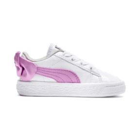 Thumbnail 5 of Basket Bow Patent Baby's Sneakers, Puma White-Orchid-Gray, medium
