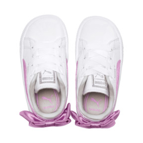 Thumbnail 6 of Basket Bow Patent Baby's Sneakers, Puma White-Orchid-Gray, medium