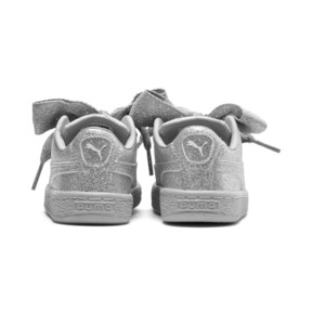 Thumbnail 4 of Basket Heart Holiday Glamour Baby Girls' Trainers, Puma Silver-Gray Violet, medium