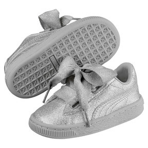 Thumbnail 2 of Basket Heart Holiday Glamour Baby Girls' Trainers, Puma Silver-Gray Violet, medium