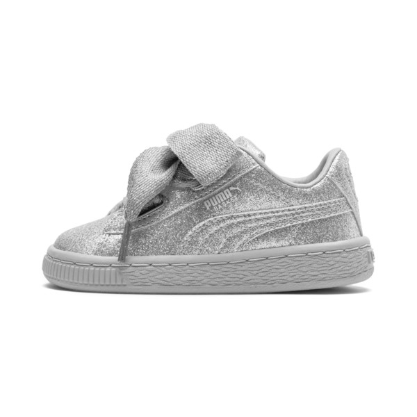 Basket Heart Holiday Glamour Baby Girls' Trainers, Puma Silver-Gray Violet, large