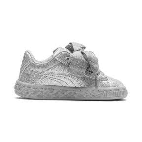 Thumbnail 5 of Basket Heart Holiday Glamour Baby Girls' Trainers, Puma Silver-Gray Violet, medium