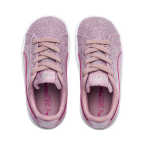 Thumbnail 7 of PUMA Vikky Glitz AC Sneakers INF, Pale Pink-Pale Pink, medium