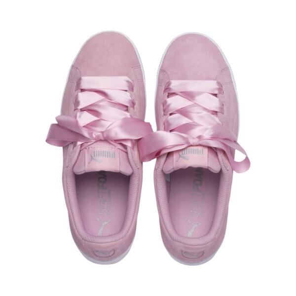 Basket Vikky Platform Ribbon Youth pour fille, Pale Pink-Pale Pink, large