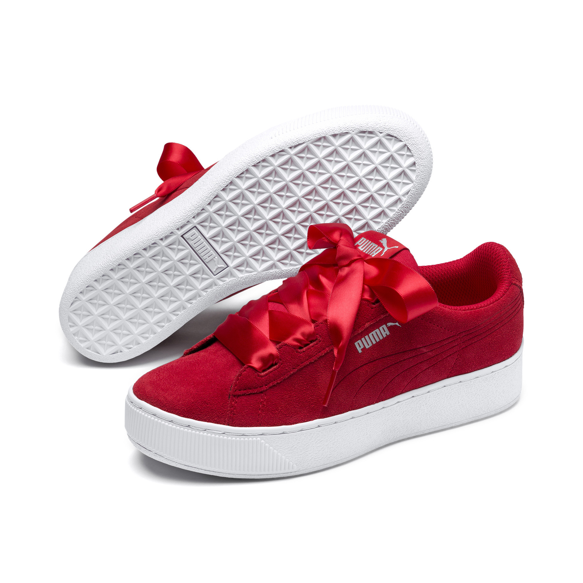 Details zu PUMA Vikky Platform Ribbon Kids Mädchen Sneaker Mädchen Schuhe  Kinder Neu
