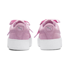 Thumbnail 3 of Vikky Platform Ribbon Kids' Girls' Trainers, Pale Pink-Pale Pink, medium