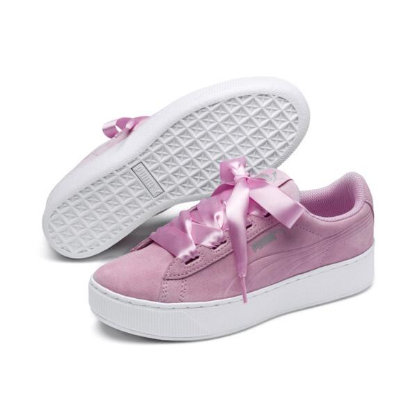 Vikky Platform Ribbon Kids Mädchen Sneaker, Pale Pink-Pale Pink, large